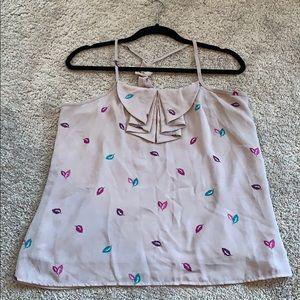 Xhilaration flowy tank top blouse